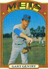 1972 Topps Baseball Cards      105     Gary Gentry